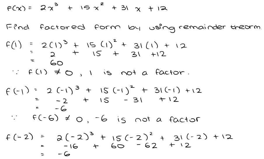 Polynomial Function Assignment Task 1 Cubic Function